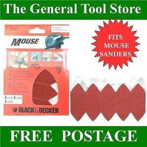 BLACK AND DECKER MOUSE SANDING FINGERS ASSORTED GRADES A2334 FITS MOUSE SANDERS